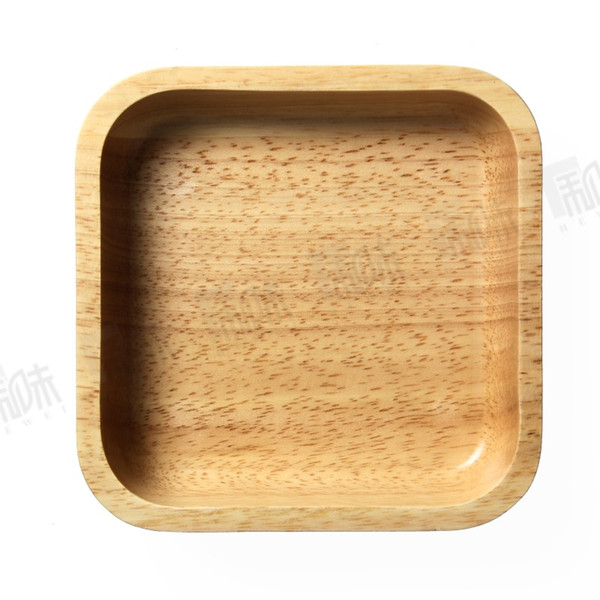 household creative natural rubber wood wooden square bowl bowls fruit meal bread salad bowls tableware dinnerware