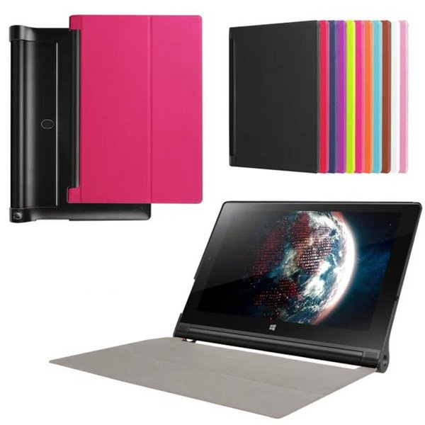 "Ultra Slim Tri-Fold PU Leather Case Stand Cover Skin for 10.1"" Lenovo Yoga Tab 3 10 X50L X50F Tablet + Screen Protector Film"