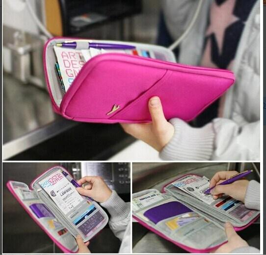 Pouch Wallet Travel Journey Fabric Passport ID Card Holder Case Cover Wallet Purse Organizer Bag Makeup Bag LB2