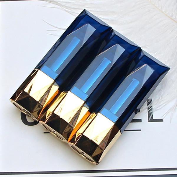 Diamante Preto Azul Tubo de Batom Vazio Caseiro DIY Lip Balm Gloss Tubos Recarregáveis Garrafas Lip Rouge Recipientes Compactos 20 pcs