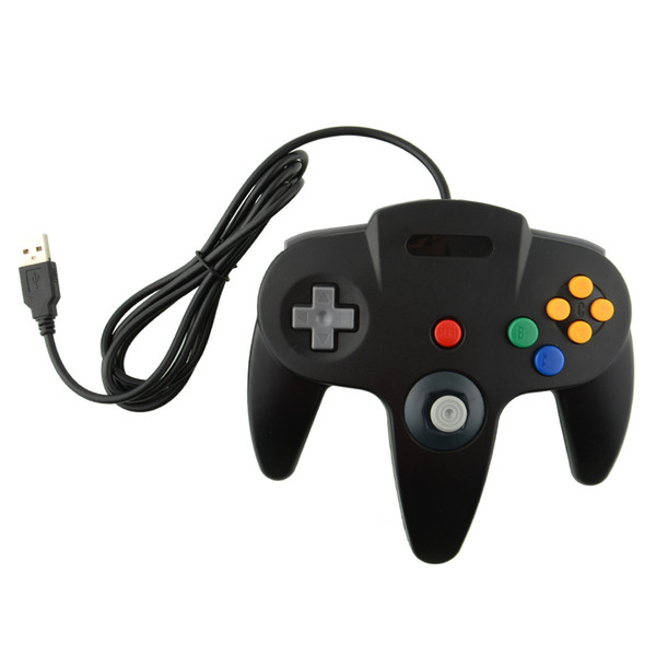 All'ingrosso-Hot USB Game Wired Controller Joypad Joystick Gamepad Gaming per Gamecube N64 64 Style Mac Black