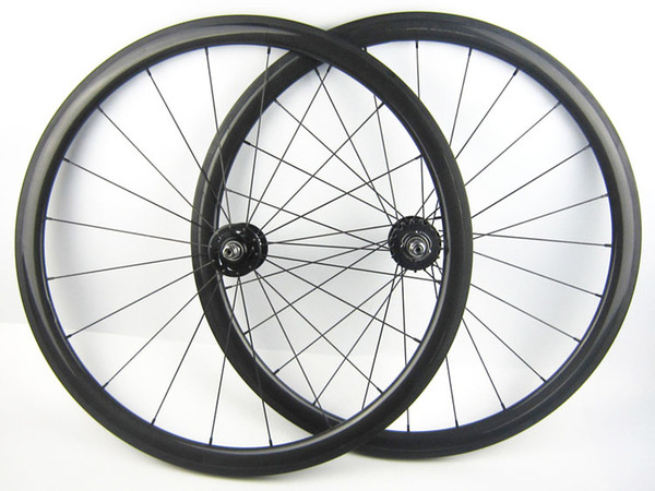 OEM 38mm carbon track bike wheelset clincher tubular rims 20.5mm width fixed gear bicycle wheels