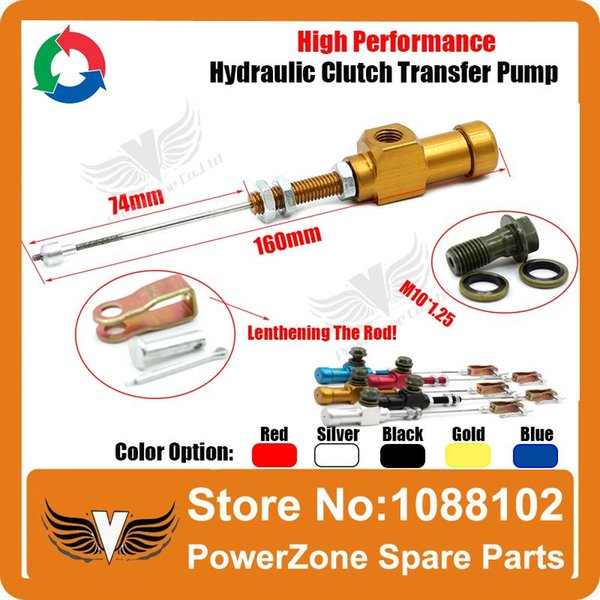 best selling Performance Motorcycle Hydraulic Clutch Pull System Efficient Transfer Pump Fit 125cc 150cc 250cc 300cc 450cc Free Shipping order<$18no trac