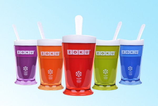 top popular Free shipping New ZOKU Slush Shake Maker The authentic Home-made ice Cream Smoothie Milkshake Tools ice cream cup 2019