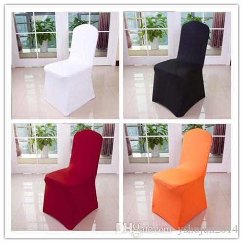 2015 Hot Sale 11 Colors Elastic coverings hotel restaurant banquet wedding ceremony wedding chair cover wholesale elastic piece universal