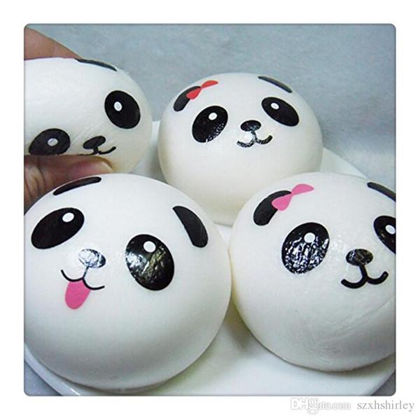 Mini Squishy 3.9 Inches Panda Bun Squishies Bread Keychains Charms Strap For Bag Kawaii Cell Phone Car Keys Soft Squishy KeyChain DHL