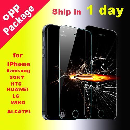 Für iPhone XS max 6,5 Zoll XR gehärtetes Glas Displayschutzfolie 0.3mmTreated Glas für iPhone 5 4 Samsung Galaxy S8 S5 Dhl frei SSC012