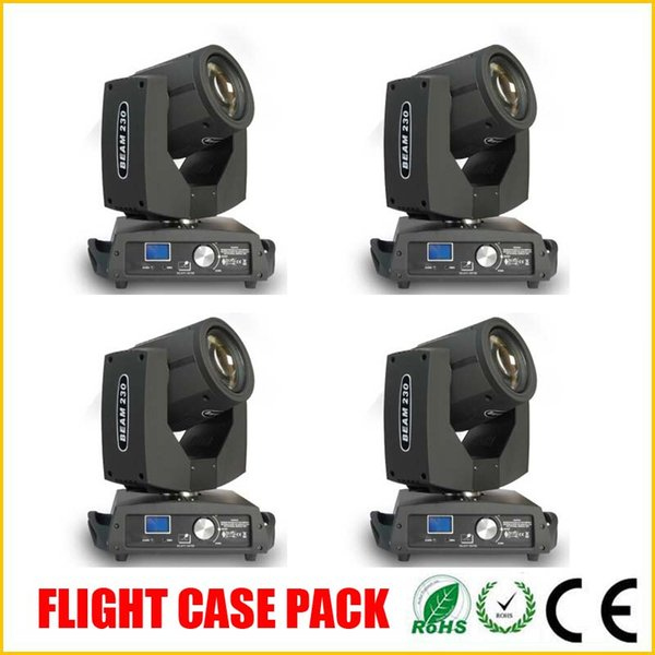 4PCS/LOT 230w Stage ligth sharpy 7R beam moving head light for disco bar club with flight case package DHL free shipping