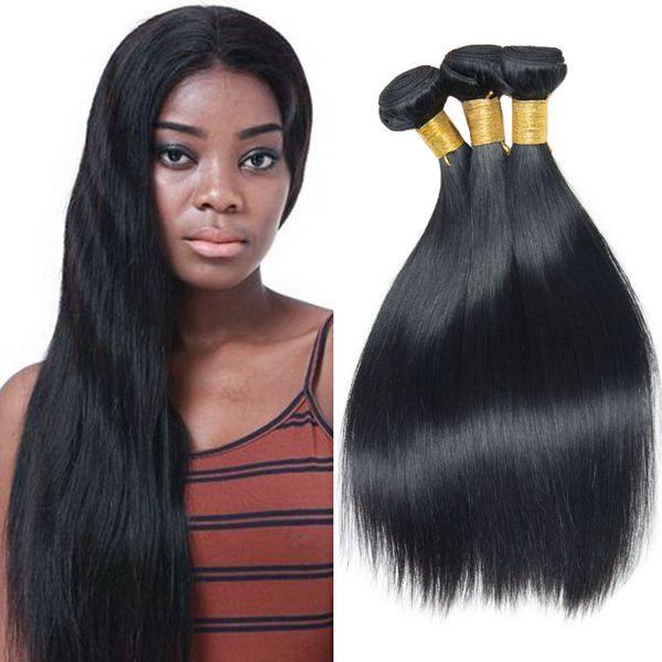 Straight Peruvian Hair 3 Bundles/Lot Natural Black 7a Virgin Hair Brazilian Indian Malaysian Malaysian Hair Bundles 8-28 Inches Mixed Sale