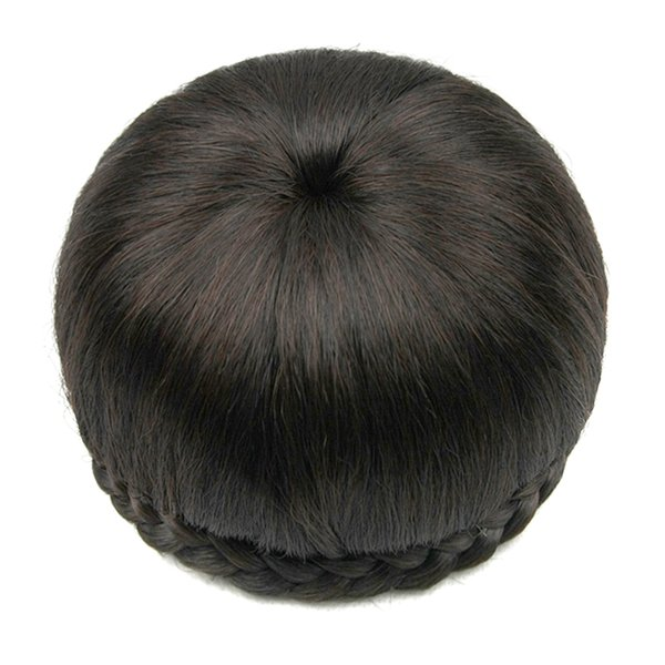 2017 6 Colors Synthetic Hair Clip In Hair Brown Black Braided Chignon Donut Roller Hairpiece Hair Bun Accessories for Women