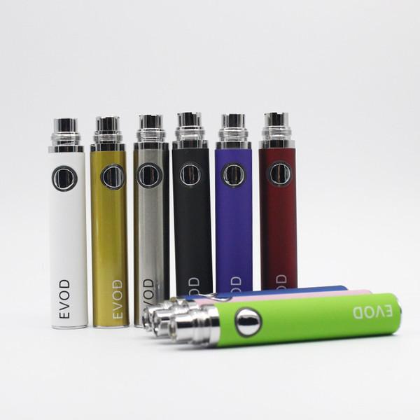 EVOD Battery 650mah 900mah 1100mah for MT3 CE4 CE5 CE6 Vivi Nova Protank Kanger Aspire Atomizer Electronic Cigarette E cigarette Kit (06h004