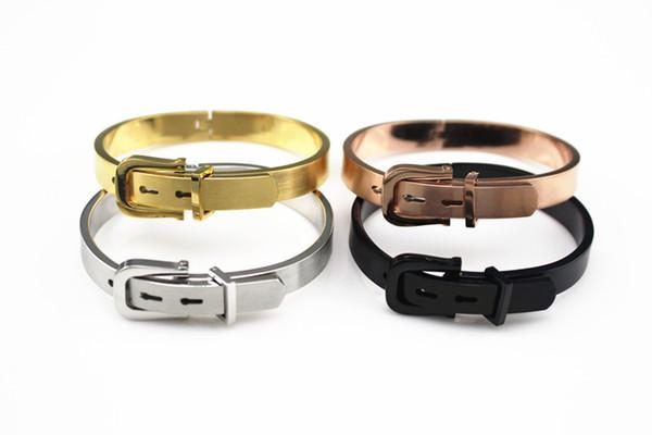 Estilo vintage Anil Arjandas Oro Simple / Plata / Granos Negros Rico para Hombres Mujeres Cinturón Pulsera Moda Pulseras Calientes Cuentas de Acero de Titanio