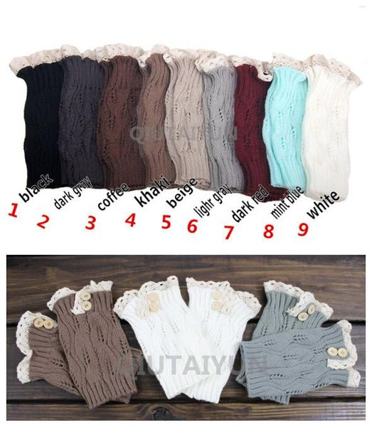 Fashion Lace button down Leg Warmers Ballet Dance Warm up knitted booty Gaiters Boot Cuffs Stocking Socks Boot Covers Leggings Tight S492