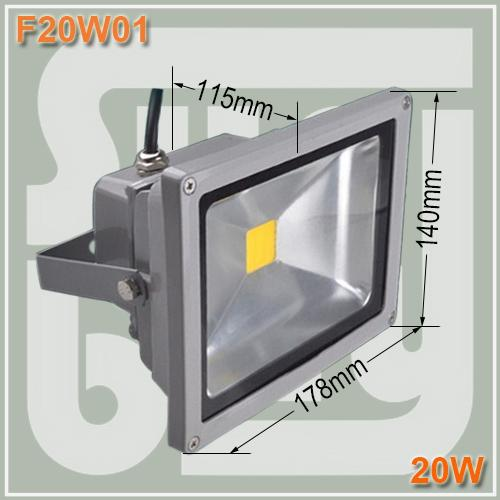 Free shipping 20W LED Flood Light Projection Lamp Landscape Outdoor Floodlight Pure/Warm/Cool White 85-265V