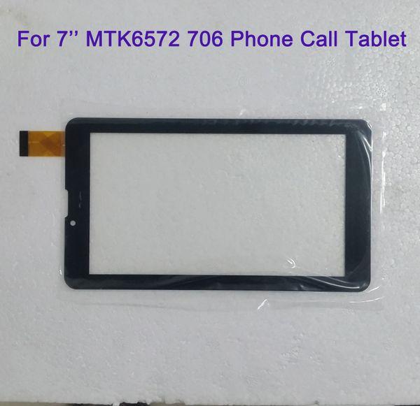 Per 7 pollici MTK6572 MTK6582 706 3G 2G Telefonata Tablet Touchscreen Touchscreen Display Vetro digitalizzatore Digitizzatore Sostituzione pannello MQ50