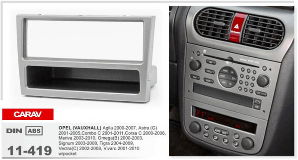 VAUXHALL COMBO van 2001 sur Simple Din Autoradio Stéréo fascia panel