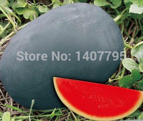 Semi di anguria della pelle nera gigante dolce, semi di anguria, piantagione di giardino - 12 particelle
