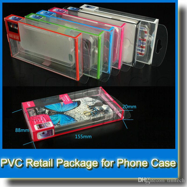 Universal Mobile Phone Case Package PVC Transparent Plastic Retail Packaging Box for iPhone Samsung HTC Cell Phone Case