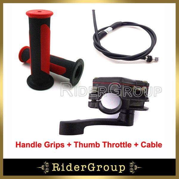 Wholesale- Alloy Thumb Throttle Cable Handle Grips For ATV Quad 50cc 70cc 90cc 110cc 125cc 150cc 200cc 250cc Taotao Sunl Roketa Kazuma