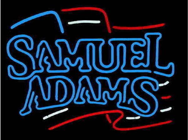 "Samuel Adams Neon Light Sign Beer Bar Club KTV Pub Store Custom Handicrafted Real Glass Tube Advertising Display Neon Signs 24""x24"""