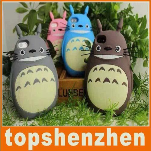Nuovo arrivo 3D Cute Giappone moda Cartoon animali Totoro Cat custodia in silicone morbido per Iphone 5 5s 6 6 plus Gel di gomma posteriore animale Shell Cover
