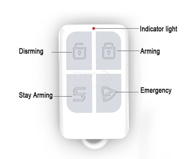 Free Shipping! Wireless Remote Control GSM PSTN Home / House Security Alarm Accessories