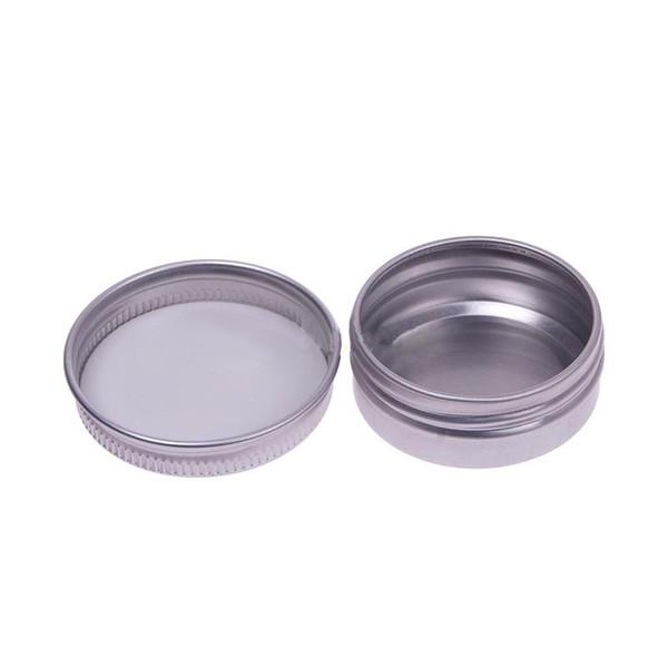 Venta al por mayor- Maquillaje ecológico Frasco de aluminio Tin Pot Arte de uñas Brillo de labios Vacío Envases cosméticos Caja de almacenamiento de joyería con rosca de tornillo