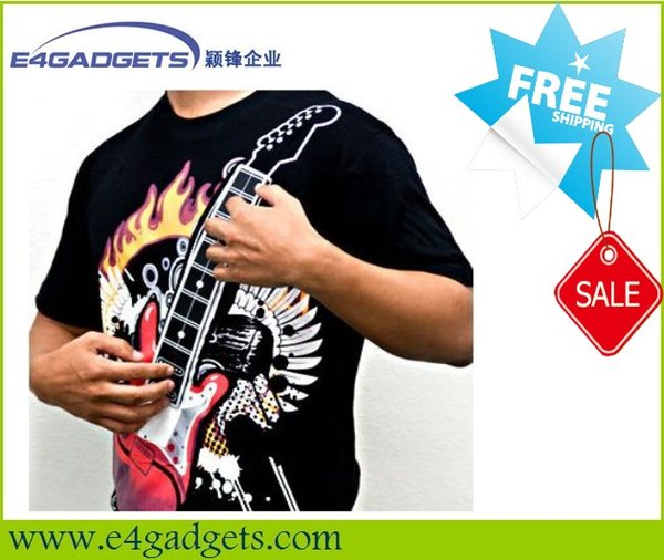 PLAYABLE MUSIC ELECTRONIC ELECTRIC ROCK CHORD GUITAR AMP SHIRT YOUTH SIZE