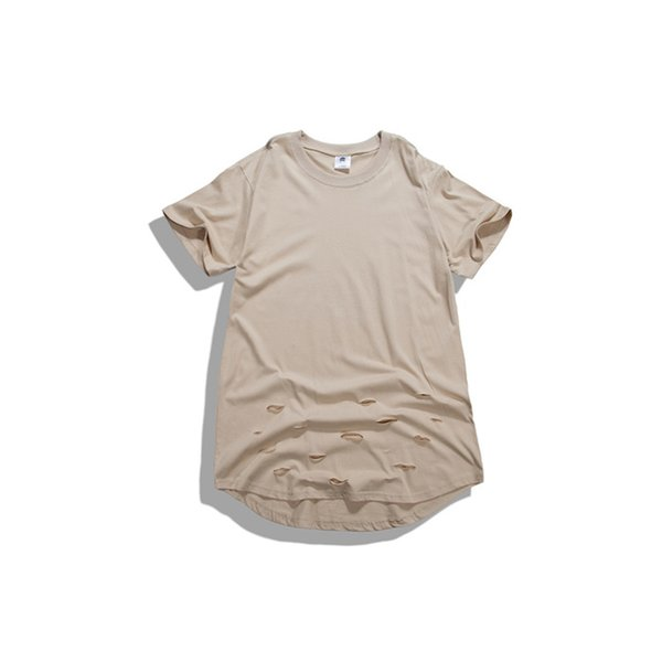 45b6a30ccb1db6 Wholesale-2016 kanye west hip-hop clothing hole T-shirt Brand Casual  oversize