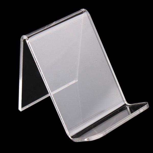 Transparent Acrylic Phone Holder Digital Products Display Stand Purse Wallet Rack U Disk Memory Card Display Props