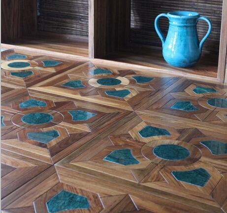 Piso de metal Piso de madeira de aço inoxidável Coppep chão Quarto Paredes Sala de estar TV pano de fundo Madeira piso de madeira personalizado Vidoeiro de nogueira preta