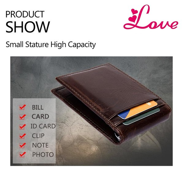 7867316cf0a2 LUCIA Theft Protect Dollar Price Men Wallets Famous Brand With Money Clip  Purse Genuine Cow Leather Wallets Wallet Sale Hobo Wallets On Sale From ...