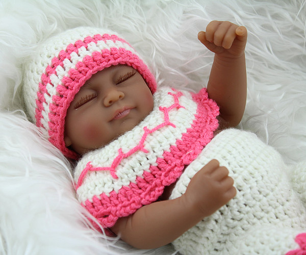 African american reborn baby girl doll full vinyl bebe toys african american reborn baby girl doll full vinyl bebe toys preemie gift personalized lifelike black baby negle Images