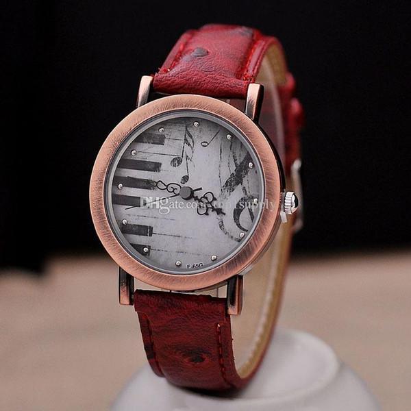 2017 Nuevo Con Etiquetas Unisex Nueva Llegada Relojes de Aleación Trend Retro Piano Teclado Carácter Reloj de Señora Relojes de Cuarzo de Alta Calidad