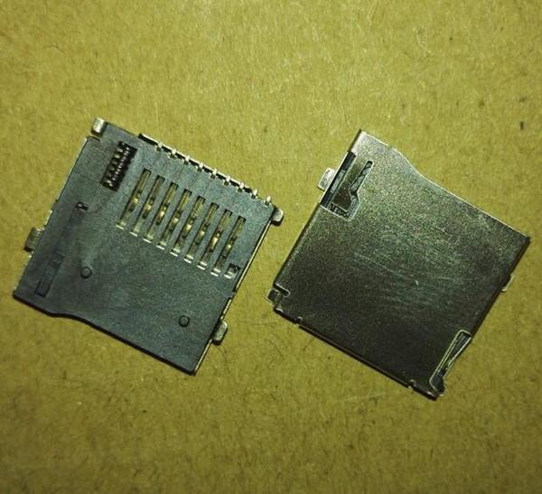 top popular 10PCS TransFlash TF Micro SD Card Socket Adapter Automatic Push Push Type 2021