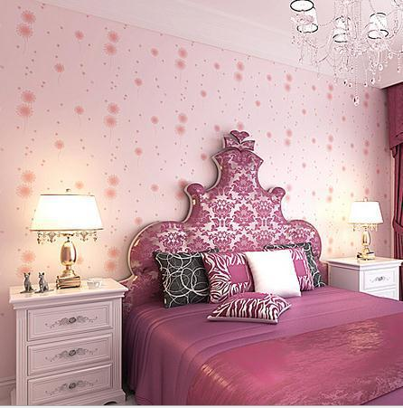 Non-woven wallpaper wallpaper bedroom wallpaper warm pastoral factory direct free shipping 6500