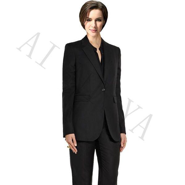 Jacket+Pants Womens Business Suits Blazer Black Female Office Uniform Formal Work Wear Evening Ladies Trouser Suit 2 Piece Set