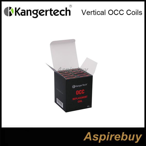 top popular Kangertech Subtank New Vertical Organic Cotton Coils OCC Coil Head 0.5 1.2 1.5ohm Replacement Coils Sub ohm for Kanger Subtank Nano 2021