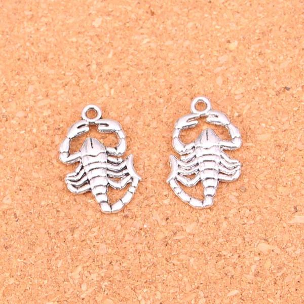 63pcs подвески Скорпионы, античный делая кулон fit, старинные Тибетского серебра, ювелирные изделия DIY браслет ожерелье 26 * 15 мм