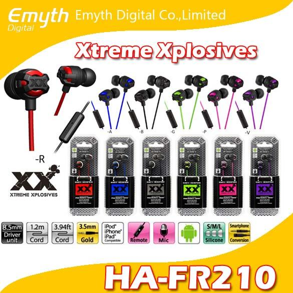 HA FR201 Xtreme-Xplosiv High Quality Stereo Headphones Casque Stereo Remote Microphone Colors for iPhone Samsung HTC with retail package