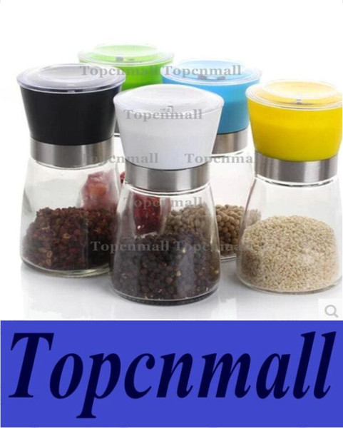 top popular 160pcs FREE SHIPPING High Quality Best selling Glass Pepper set Salt Herb Spice Hand Grinder Mill manual pepper mill 80PCS LOT 2021