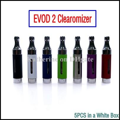 EVOD 2 Atomizer EVOD2 Cartomizer Clearomizer Replaceable Dual Coil Bottom Electronic Cigarette for 510 Thread eGo t Vision 2 II EVOD 2 Tank