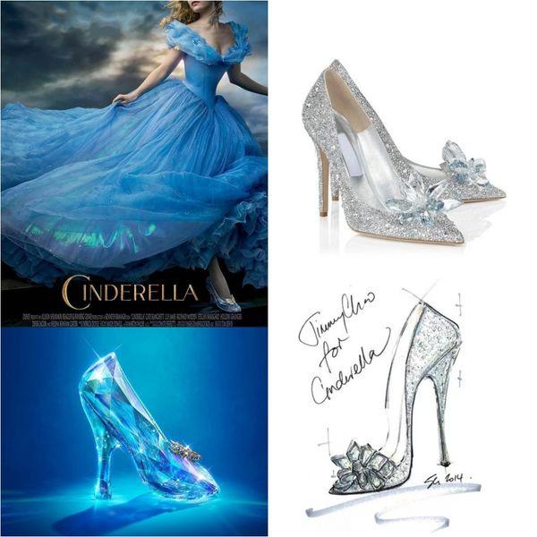 e73f50031 2015 New Cinderella Glass Slipper Shoes Diamond Point Single Shoes Prom Shoe  2015 Cinderella Shoe in