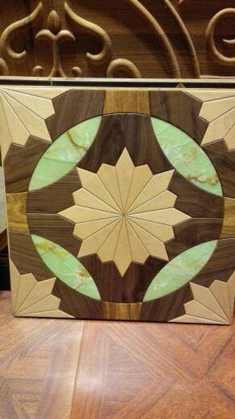 marmo pavimento quadrato verde marmo nero noce pavimento in legno Pavimenti in legno Parquet Pavimenti in legno massello di legno