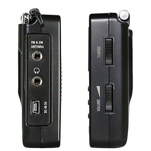 Tecsun PL-606 Récepteur radio multi-bandes AM / FM LW / MW / SW numérique PLL Portable avec DSP