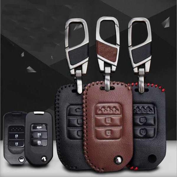 For Honda eight generations of Accord Hand-stitched leather key case intelligent remote control package special car