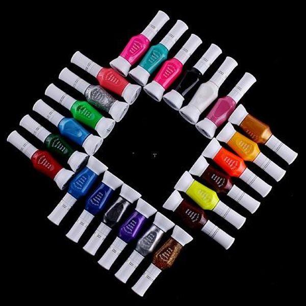 24 colori nail art nail art smalto nero Nail supplies 24 colori nail polish oil brush dual featured 24 colori nail polish kit (210013)