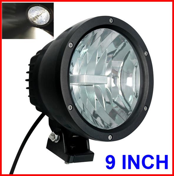 "EMS 2PCS 9"" 50W CREE LED Driving Work Light 2COB*25W CHIP Offroad SUV ATV 4WD 4x4 Spot Pencil Beam 12/24V 5000lm Xenon White 6K Replace HID"