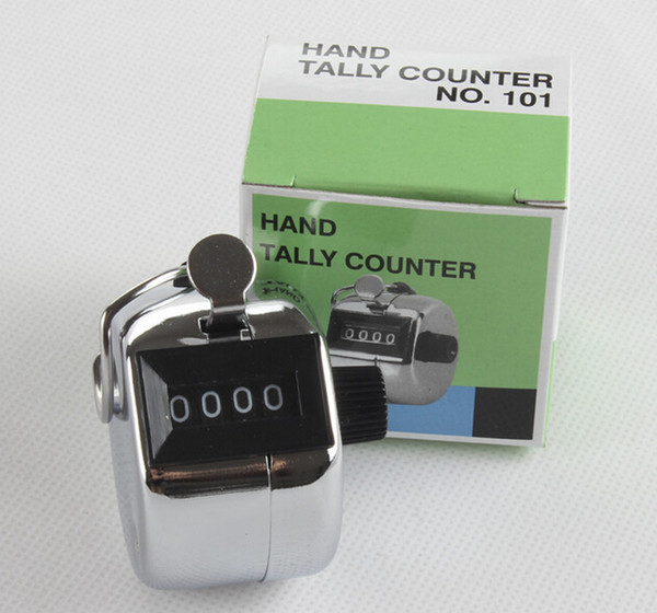top popular Free shipping 480pc lot Metalic 4 Digits Number Clicker Hand Tally Counter for Golf 2020