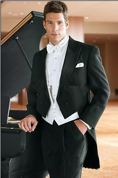 Лучшие продажи индивидуальные свадебные костюмы жених фрак красивый костюм официальные костюмы лучший человек носить костюм жениха (куртка + брюки + жилет)